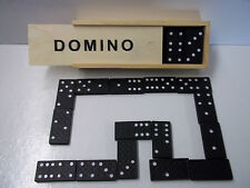 Dominoes Double 6 In Wooden Case Set Of 28 Small Version