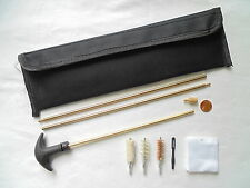 gun cleaning kit of 27/28, 357/38, 40, 410, 45 ca, including rod, brushes etc.