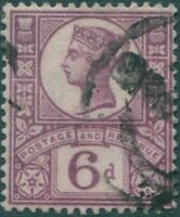 Great Britain 1887 SG208 6d purple/rose red QV FU