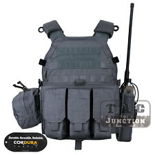 Emerson Tactical Modular MOLLE LBT-6094A Plate Carrier Vest w/ Pouches Wolf Grey