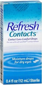 REFRESH Contacts Contact Lens Comfort Moisture Drops 0.40 oz (Pack of 9)