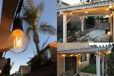 Brightest 48FT LED Outdoor Waterproof Commercial Grade Patio String Light Bulbs