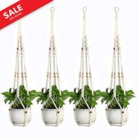 Handmade Braided Macrame Rope Hanging Basket Planter Flower Pot Holder Hanger