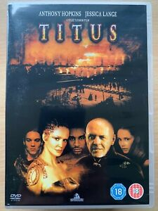 Titus DVD 1999 William Shakespeare Andronicus Drama Classic w/ Anthony Hopkins