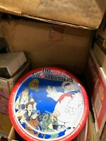 VINTAGE THE REAL GHOSTBUSTERS Birthday PARTY PLATES SLIMER C.A. REED 1986 sealed