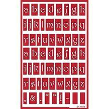 Self Stick Reusable Glass Etching Stencils  Alphabet Lowercase