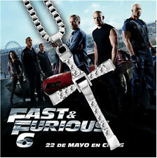 """Fast and Furious Movie Dominic Toretto's Cross Necklace (Pendant + 26"""" Chain)"""