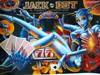 Jackbot Pinball Machine Translite Artwork Sheet 1995 Original NOS Robot Pinbot