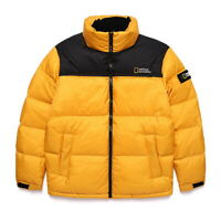 New NATIONAL GEOGRAPHIC Mens BISON RDS DUCK DOWN SHORT JACKET YELLOW S-3XL TAKSE