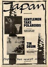 10/4/1982Pg24 Album Advert 15x10 Japan, Gentlemen Take Polaroids & Tin Drum