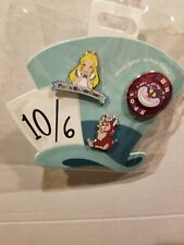 Oh My Disney Alice in Wonderland 3 Pin Set: Alice, Dinah, and the Cheshire Cat