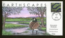2012 - Greenbelt Maryland - Earth Scapes - Inland Marsh Canada Goose Collins FDC