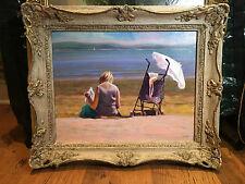 Pintura al óleo por David Aldus enumerados artista similar $10,000 Hermoso Marco De Playa