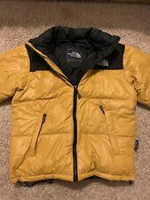 The North Face Summit Serries 900 LTD,Down Puffer Jacket Mens Sz L Yellow Black