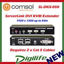 ServerLink DVI KVM Extender over Cat 5-DVI,USB 2.0,Audio & Mic 50m SL-DKX-050