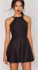 Nasty Gal In The Slick of It Fit & Flare Mini Dress (S)