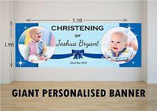 Personalised GIANT Large Boys Christening Baptism Poster Banner N46