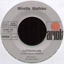 """MIREILLE MATHIEU ~ LA PALOMA ADE / MEIN LETZER TANZ ~ 1974 GERMAN 7"""" SINGLE"""