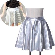 Kpop 2NE1 DARA Holographique Brillant Métallique Jupe Style Patineuse Fête Jupes