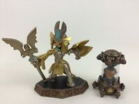 Skylanders Figure 2pc Lot Earth Crystal Earth Golden Queen Game Figures