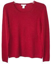 Tweeds womens medium sweater 100% cashmere scoop neck long sleeve