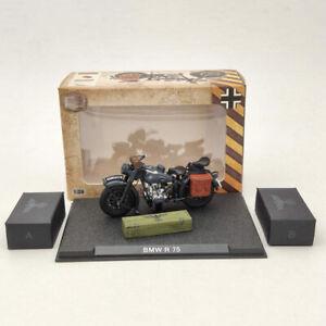 1:24 BMW R75 Motorcycle World War II 1939-1945 Black Diecast Model Collection