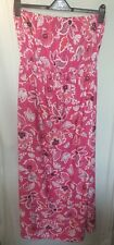 BNWT M&Co Maxi Dress UK Size 16 Pink Floral Flowers Removable Straps