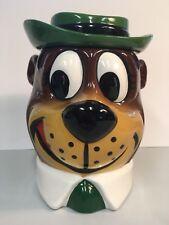 Yogi Bear Cookie Jar Vintage Hanna Barbera 1979 Ceramic Glossy Glazed