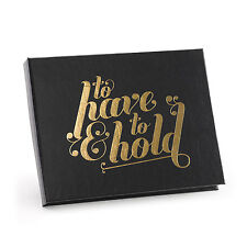To Have and To Hold Personalized Wedding Guest Book (40455)