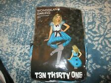 Alice In Wonderland halloween costume~Hot Topic Ten Thirty One~Womens L~used
