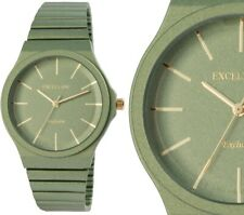 Damenuhr Excellanc Farbe grün Armbanduhr analog verstellbares Armband
