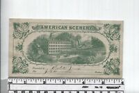 Antique Reward of Merit - American Scenery - Rare Bank Note Type with Vignette