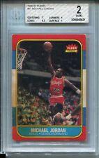 1986 Fleer Basketball #57 Michael Jordan Rookie Card RC Graded BGS 2 w 7