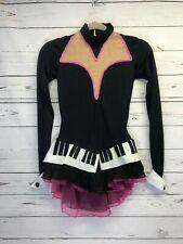 Girls Music Piano Costume Dance Ice Skate Dress