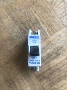 Proteus 620/2 20Amp MCB Type 2
