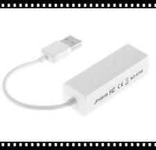 Hot White USB 2.0 Ethernet 10/100 M RJ45 Network Lan Adapter Card For Tablet BOS