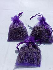 3 sachets d lavande séchée en organza couleur violet intense 100% bio pot pourri