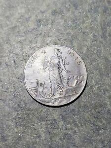 1915 R Italy 2 Centesimi Foreign Coin