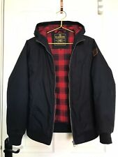 New listing ELEMENT Wolfboro Collection Navy Blue Tartan Lined Hooded Padded Coat age 14