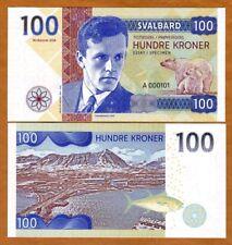 Svalbard (Norway), 100 Kroner, 2018, Private Issue, UNC > Helge Ingstad