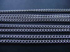 UK 4 Meters Silver Jewellery Link Curb Necklace Pendant Chain 2mm x 3mm approx
