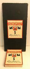 Vintage 1935 Monopoly Parker Bros. 1933 Chas. Darrow Board Patent # 1 509 312