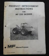 1960's MASSEY FERGUSON MF 220 SKIDDER PRODUCT IMPROVEMENTS MANUAL RARE
