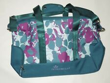 Peter Millar Golf women's purple Blue floral print Overnight duffel bag