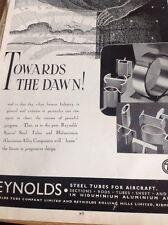 Ephemera 1942 Advert Reynolds Tubes Birminham Towards The Dawn  M5018