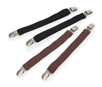 Shires elastic jodhpur boot clips (1 pair), black or brown.