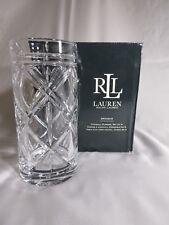 Lauren Ralph Lauren Crystal Highball Glasses 13.5oz Double Old Fashioned Nib