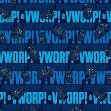 BBC Dr. Who Worp Worp Tardis By The yard Springs Cotton print Doctor Who