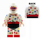Custom Designed Minifigure - Polka Dot Man - Printed on LEGO Parts