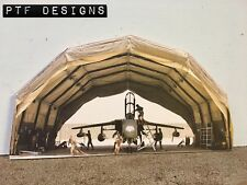 """* O Scale Scratch Built """"Military Aircraft Hanger"""" Army Front/Flat, MTH Lionel"""